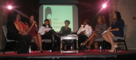 (Left to right) Winsome Sinclair, Malikha Mallette, Jacquie Lee, Melba Moore Lillias White, Mona Scott-Young, Havilah Malone