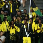 Usain Bolt carries Jamaica's flag at opening ceremony