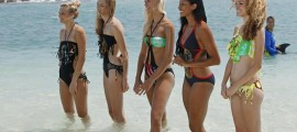 The models sport Cedella Marley's 'High Tide' bathing suits