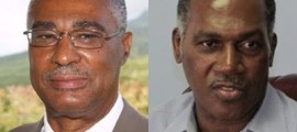 (L-R): Nevis Reformation Party (NRP) leader, Premier Joseph Parry, and Concerned Citizens' Movement (CCM) leader and former premier, Vance Amory
