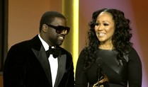 Warryn and Erica accepting Grammy on behalf of Mary Mary