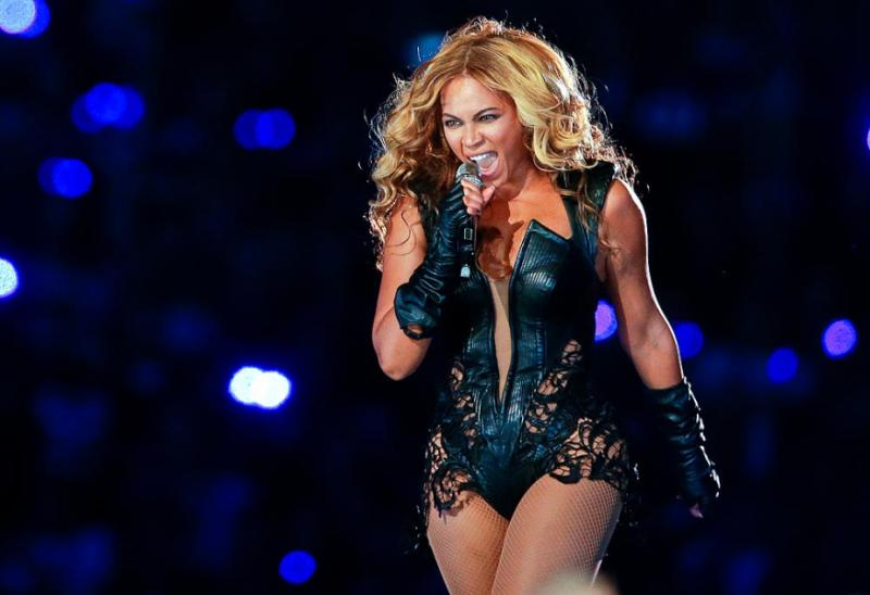 Beyonce performs during the halftime show of  the NFL Super Bowl XLVII football game between the San Francisco 49ers and the Baltimore Ravens, Sunday, Feb. 3, 2013, in New Orleans. (AP Photo/Patrick Semansky)