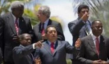 President Hugo Chavez and some Caribbean leaders