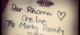 Rihanna Receives Gift from Marley Family
