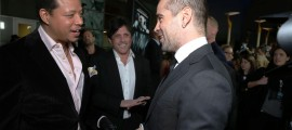 "Terrence Howard and Colin Farrell at FilmDistrict's World Premiere of ""Dead Man Down"" held at the ArcLight Hollywood, on Tuesday, Feb. 26, 2013 in Los Angeles. (Photo by Eric Charbonneau/Invision for FilmDistrict/AP Images)"