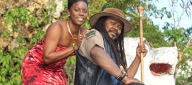 Lady Virtue with Luciano on Tek Di Pressure video set