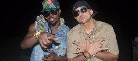 Sean Paul and Beenie Man on the video shoot for 'Greatest Gallis'