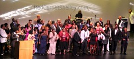 Performers join Calypso Rose on Stage to close out the 32nd Annual IRAWAMA Awards