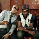 Kenyan reggae artist and Tarrus Riley at Tuff Gong Studios in Jamaica