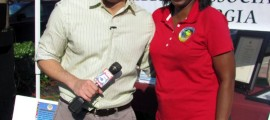 Paul Milliken (Fox 5 Atlanta) and Jackie Watson (Caribbean Association of Georgia)