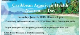 Atlanta Caribbean American Health and Wellness Day - Saturday June 8, 2013