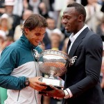 Usain Bolt Presents Championship Cup at French Open