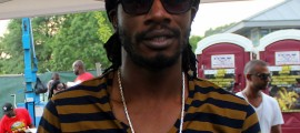 Gyptian Backstage at Grace Jamaican Jerk Festival
