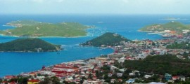 Aerial View of Waterfront area, St. Thomas USVI