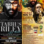 Tarrus Riley, Dean Fraser, and Friends Set for Atlanta Friday Nov. 1