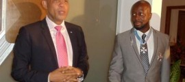 Wyclef Jean and Haiti President Martelly