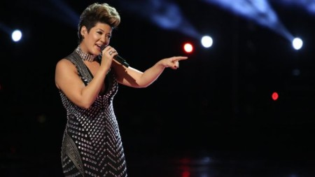 "n this photo provided by NBC, Tessanne Chin sings during the season five finale of ""The Voice"" on Tuesday, Dec. 17, 2013, in Los Angeles. Chin was announced the season five winner. The 28-year-old Kingston native had nearly given up on her dreams before landing a spot on the NBC singing competition. Chin's coach, Maroon 5 frontman Adam Levine, was also thankful to add a second win to his resume. (AP Photo/NBC, Tyler Golden) (The Associated Press)"