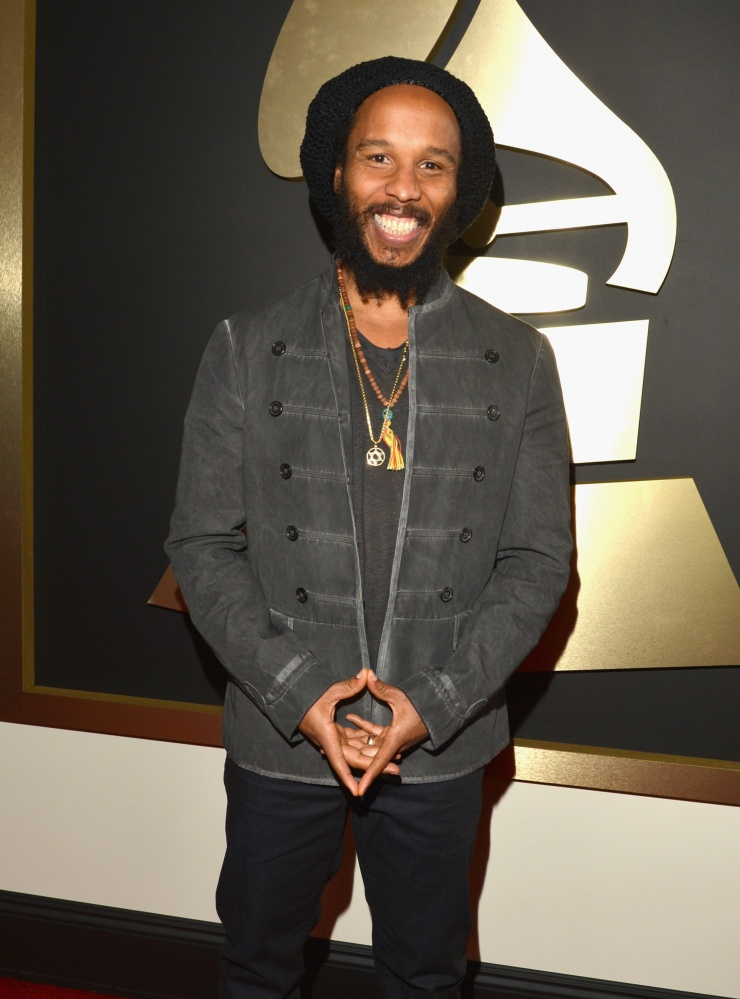 Best Reggae Album nominee Ziggy Marley arrives at the 56th Annual GRAMMY Awards on Jan. 26 in Los Angeles Photo: Lester Cohen/WireImage.com