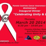 'Celebrating Unity & Life' Fundraiser for the Pamela Castriota Cancer Awareness Organization – March 20
