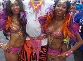 Conrad Murray, c, at Trinidad Carnival 2K14 on March 4, 2014. (C News Trinidad image)