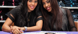 Angela & Sevyn smile for the camera