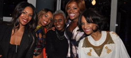 The cast of 'Love in the City' and Bethann Hardison are all smiles at the Mondrian Soho in New York