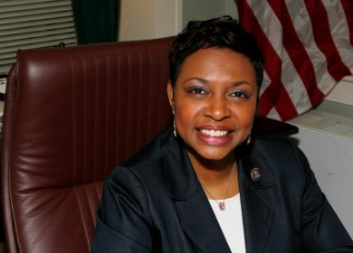 Congresswoman Yvette D. Clarke at her office in Brooklyn,