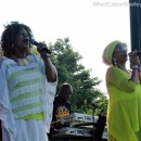 An historic moment with Judy Mowatt (L) and Marcia Griffiths at Groovin' in the Park