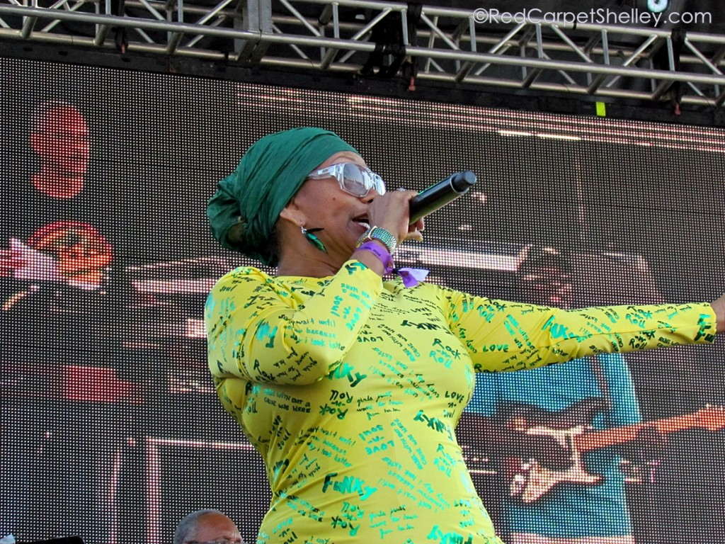 Marcia Griffiths Performs during Groovin' in the Park 2014