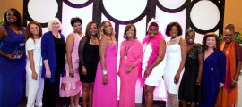The honorees, co-founders and presenters