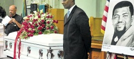 Hopeton Lewis laid to rest. Photo credit: Sharon Bennett