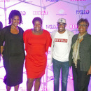 (l-r) William P. Smith (Office of Assemblyman Keith Wright), Karen Murray, Edith Massiah (BGCH Director of Operations), Kai Wright (REVOLT, VP of Communications), Shirley Lewis (Chair, BGCH Board of Directors) and Curtis Archer (President, HCDC)