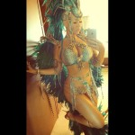 Amber Rose Plays Mas in Trinidad Carnival