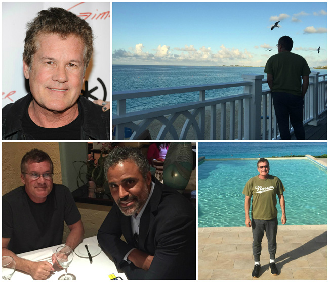Hollywood film producer, Scott Steindorff recently visited the Bahamas with Rick Fox to scout locations for an upcoming TV series set to start filming in May, 2015. (Photos from Facebook)