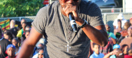 Grenadian soca artist Tall Pree performs during the 27th Annual Atlanta Caribbean Carnival