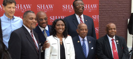 Shaw University's Board of Trustees Chairman Dr. Joseph N. Bell introduced at a press conference today, Dr. Tashni Dubroy as Shaw's 17th president. Dubroy,