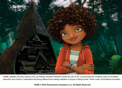 Music sensation Rihanna voices the role of Tip, a young lady who embarks upon an incredible adventure and comes to understand that being different and making mistakes is all part of being human. Photo credit: DreamWorks Animation.