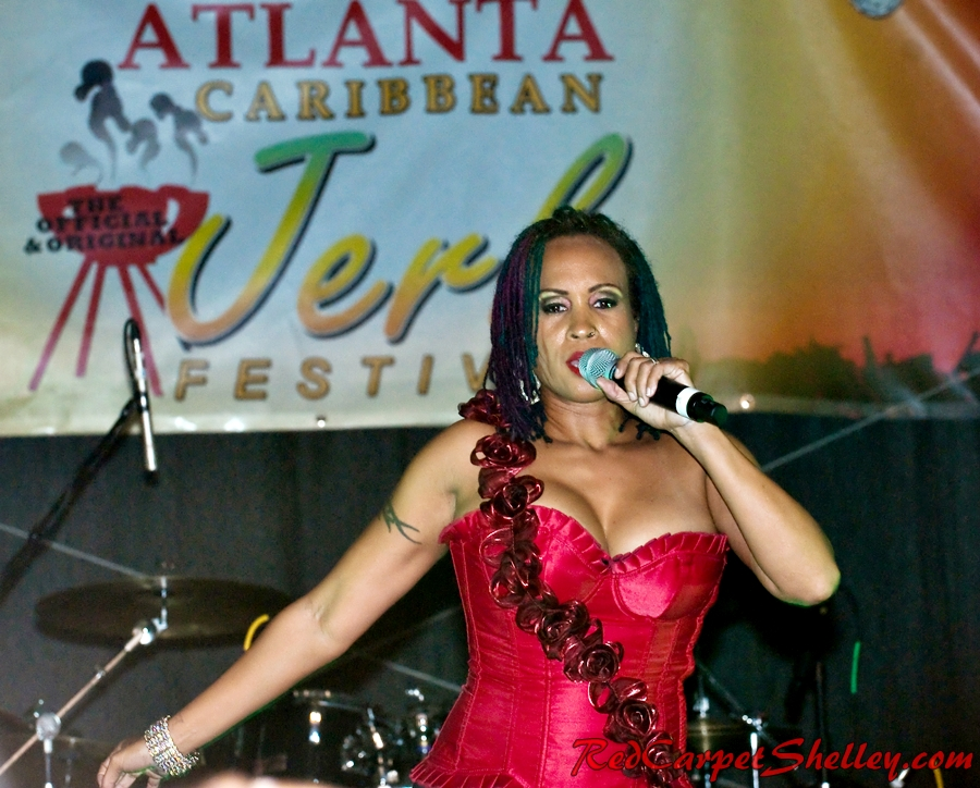 Alison Hinds performs at Atlanta Jerkfest 2014