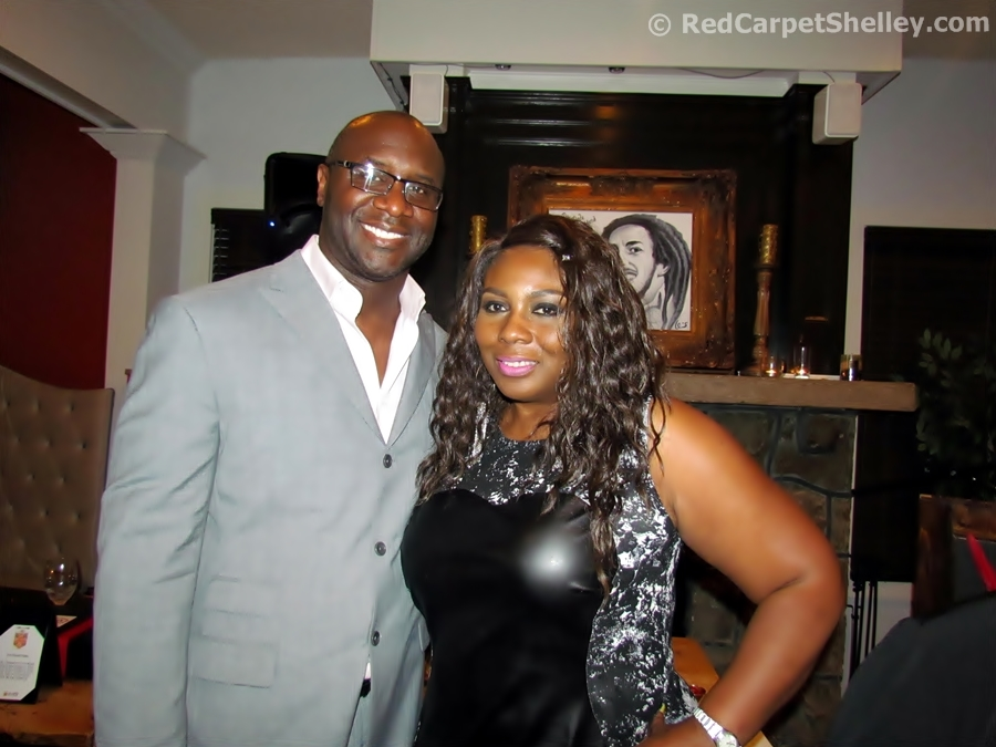 Roger Bobb strikes a pose with Red Carpet Shelley
