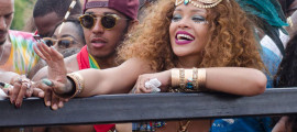Rihanna Wining in Barbados for Cropover Carnival with Lewis Hamilton