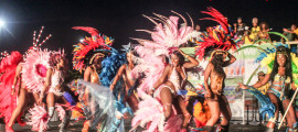 Masqueraders at Miami Carnival 2015