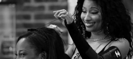 "Behind the Scenes with Nicki Minaj on the set of ""Barbarshop: The Next Cut"""