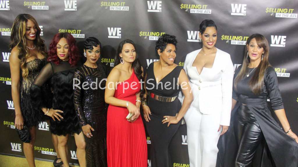 "The cast of ""Selling It: In the ATL"" attend their premiere at the Woodruff Arts Center in Atlanta (l-r): Chrishena Stanley, A'lana Banks, Jae Christian, Sarah Lowe, Okevia Wilson, Tahlia Brown and Gwen Moss"
