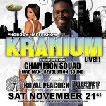 Dancehall Reggae Artist Kranium in Atlanta on Sat Nov. 21