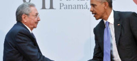 Raul Castro and President Obama