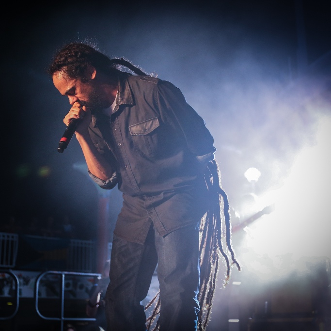 "WTJRC Founder and Grammy Winning Musician Damian ""Jr. Gong"" Marley Performing on 2015 Cruise (Photo By Anita Posada)"