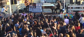 John Legend and Juanes perform outside Arizona detention center