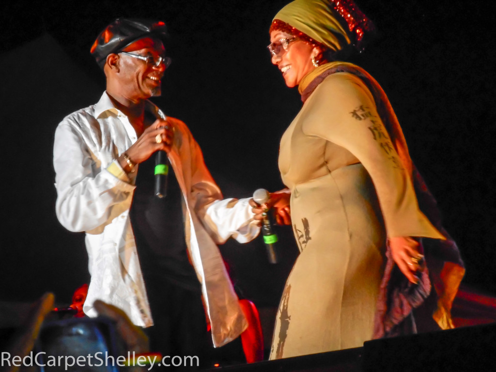 Beres Hammond and Marcia Griffiths at Rebel Salute 2016