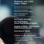 Former Jamaica PM Bruce Golding to Speak at Caribbean Diaspora Town Hall Meeting in Atlanta, GA – June 1