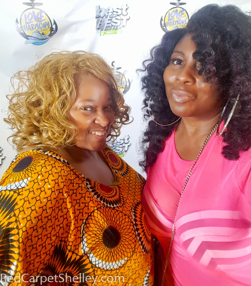 "Sandie ""The Dutchess"" (Left) with Red Carpet Shelley"